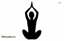Black Yoga Mudra Silhouette Image