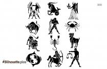 Black Zodiac Signs Silhouette Image, Zodiac Symbols Vector Logo