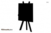 Blank Paint Easel Silhouette