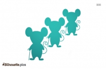Blind Mouse Silhouette Art