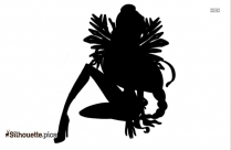 Black And White Ice Fairy Silhouette