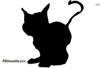 Cat Running Silhouette Clip Art