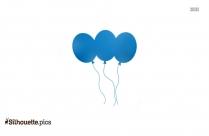 Blue Circus Balloons Silhouette