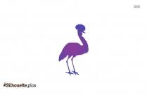 Blue Crane Bird Silhouette
