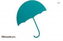 Blue Umbrella Clip Art Silhouette Image