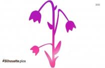 Bluebell Flower Silhouette Art