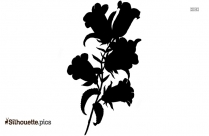 Romantic Rose Border Silhouette Art