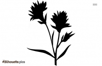 Bluebonnet Flower Logo Silhouette For Download