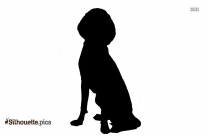 Bearded Collie Dog Breed Silhouette