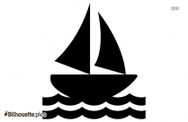 Boat On Water Silhouette Background