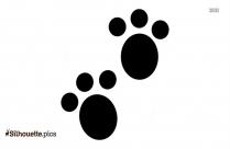 Free Lynx Footprint Silhouette
