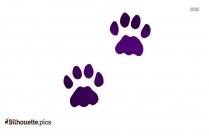 Bear Tracks Silhouette Image