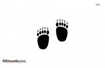 Bobcat Paw Print Silhouette Free Vector Art