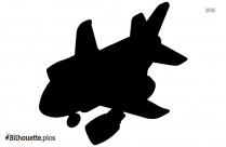 Cartoon Airplane Silhouette Image
