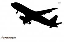 Black And White Aeroplane Silhouette