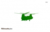 Boeing CH-47 Chinook Clipart Silhouette