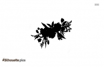 Tribal Hibiscus Flower Silhouette, Hibiscus Flower Clipart Icon