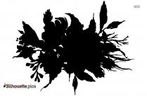 Black And White Bitterroot Flower Silhouette