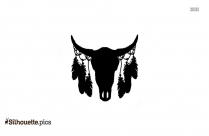Gothic Skull Black And White Silhouette