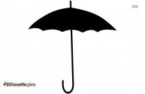 Boring Umbrella Silhouette