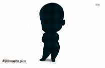 Black Boss Baby Silhouette Image