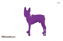 Cartoon German Shepherd Silhouette Image