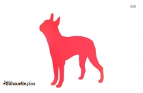 Terrier Mix Dog Clipart Silhouette Image
