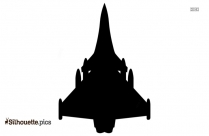 Bottom View Plane Silhouette