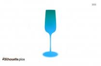 Bouquet Champagne Glass Silhouette