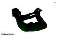 Standing Bow Pose Silhouette