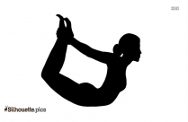 Hero Pose Yoga Silhouette Free Vector Art