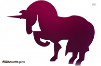 Black Cartoon Unicorn Silhouette Image For Free