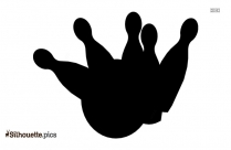 Bowling Silhouette Vector Image
