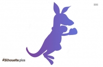 Cartoon Baby Kangaroo Silhouette
