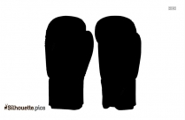 Boxing Gloves Silhouette Male Boxer