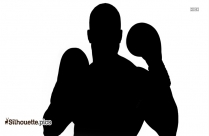 Silhouette Of Boxing Gloves