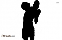Boxing Gloves Silhouette Pair