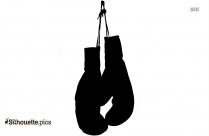Female Boxing Gloves Silhouette