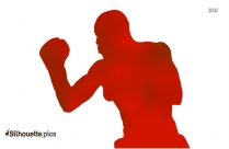 Boxing Gloves Silhouette Clipart