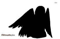 Flying Angel Silhouette Clipart