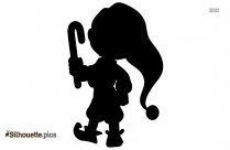 Boy Holding Candy Stick Silhouette