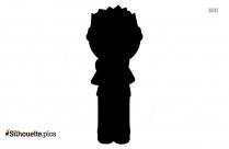 Determined Boy Silhouette Illustration