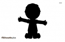 Boy Jumping Clipart Silhouette