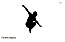 Boy Jumping Silhouette Vector And Graphics