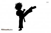Karate Feet Kick Silhouette Illustration