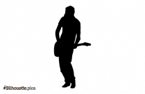 Girl Playing Guitar Silhouette Image And Vector