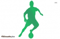 Black People Playing Soccer Silhouette Image