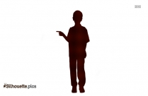 Boy With Easter Egg Basket Silhouette