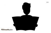 Man Reading Newspaper Free People Icons Silhouette