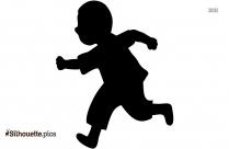 Boy Running Silhouette Background